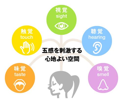 四国山香りの森公園及び香り会館は  「見て」、「触って」、「聞いて」、「香って」、「味わう」  人間が持つ五感を刺激する心地よい空間です。
